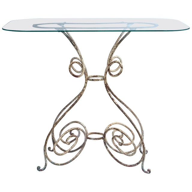 Transparent Iron Bistro Table, France, Circa 1910 For Sale - Image 8 of 8