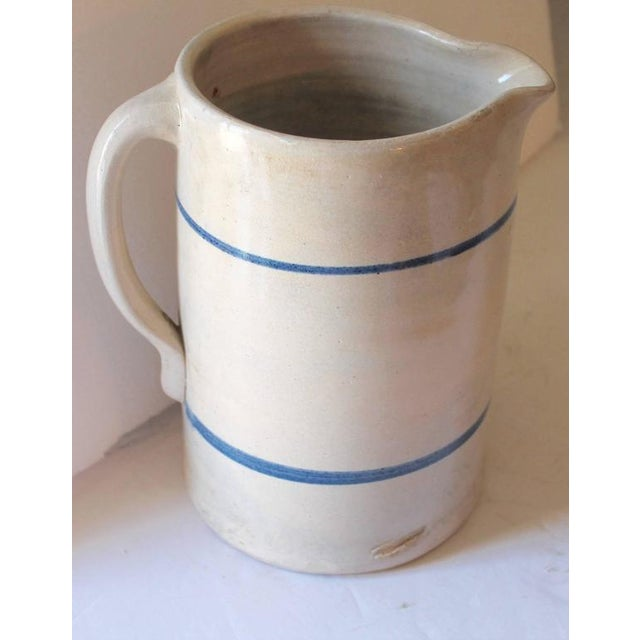 Country 19th Century Handmade Stoneware Pitcher For Sale - Image 3 of 6