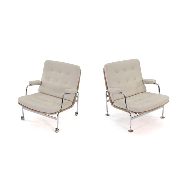 1970s Vintage Bruno Mathsson Karin Easy Chairs- A Pair For Sale - Image 12 of 12
