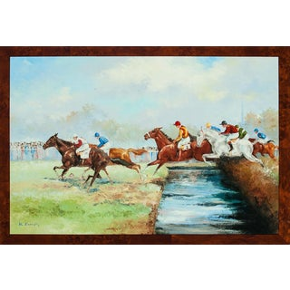"""French """"Water Jump"""" Painting For Sale"""