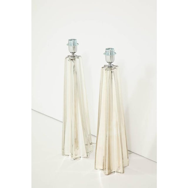 """Mercury Glass Star """"Etoile"""" Lamps - A Pair For Sale - Image 4 of 9"""
