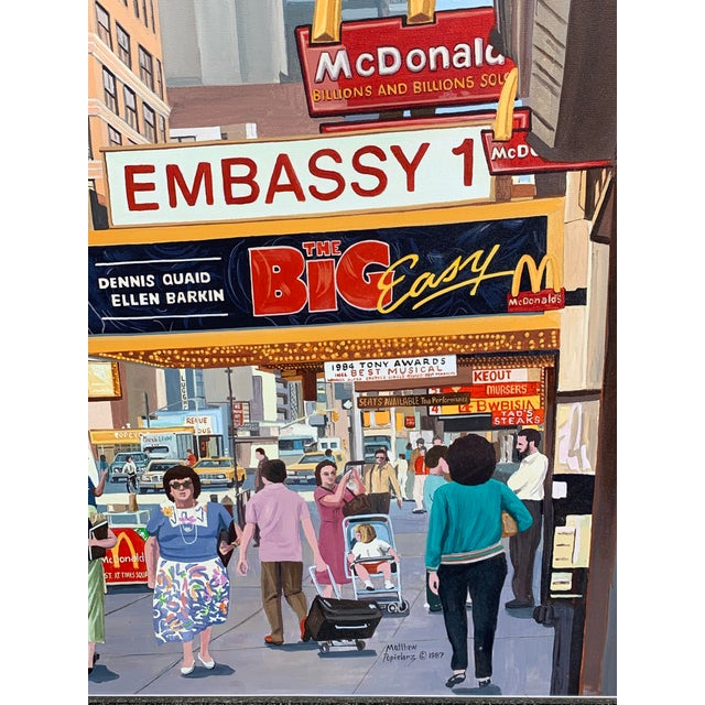 1987 Nyc- Times Square Pop Art Original Painting by Matthew Popielarz For Sale - Image 4 of 11