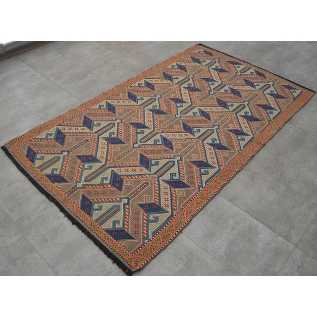 """Boho Chic Vintage Masterpiece Braided Rug. Hand Woven Small Area Rug - 3' 7"""" X 6' For Sale - Image 3 of 10"""
