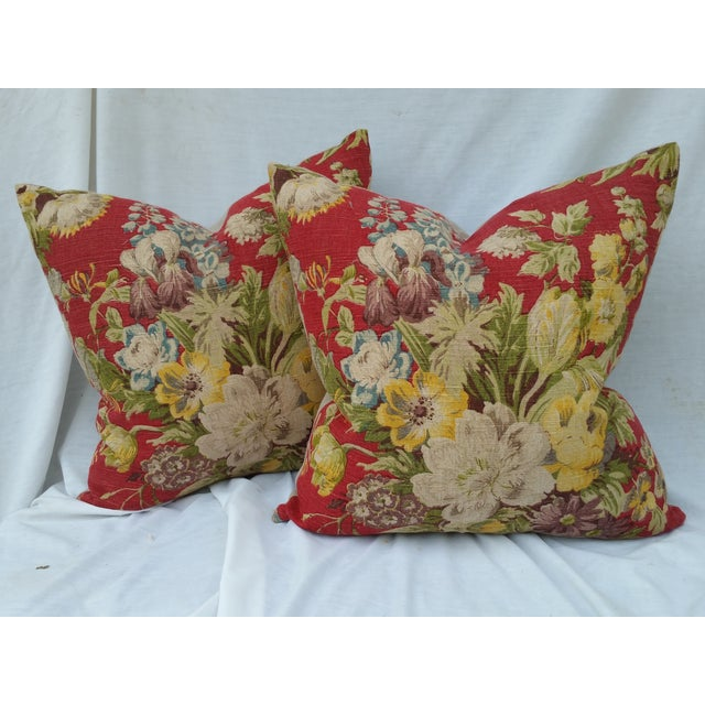 Vintage Liberty of London Floral Pillows - Image 2 of 5