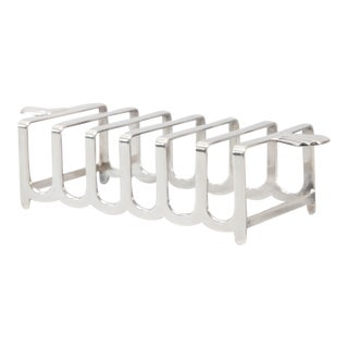Art Deco English Barker Brothers Sterling Silver Toast Rack For Sale