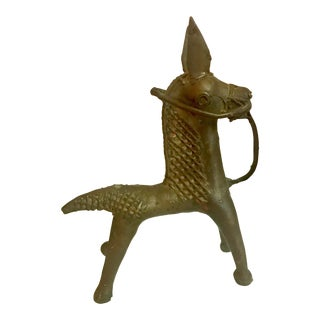 Antique Bronze Age Style Horse Figurine For Sale