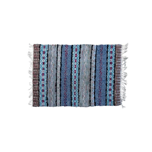 """1950s Handwoven Vintage Swedish Rug by Scandinavian Made 38"""" X 26"""" For Sale - Image 5 of 5"""