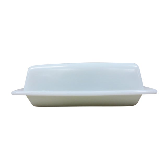 Pyrex Vintage Milk Glass Covered Butter Dish - Image 3 of 7