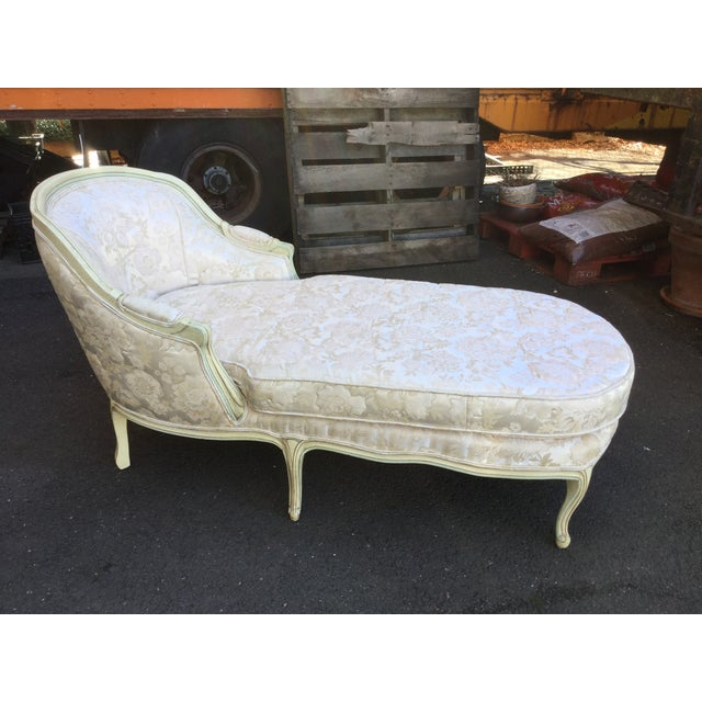 Louis XV-Style Painted Chaise Lounge - Image 2 of 5