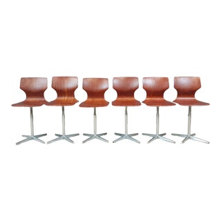 Pagholz Chairs by Flötotto Vintage Industrial Design - Set of 6 For Sale