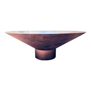 Modernist Geometric Faux Slate Cocktail Table For Sale