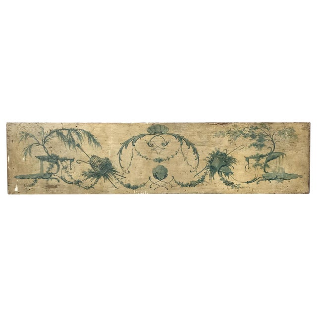 Venetian Painted Wood Panel For Sale