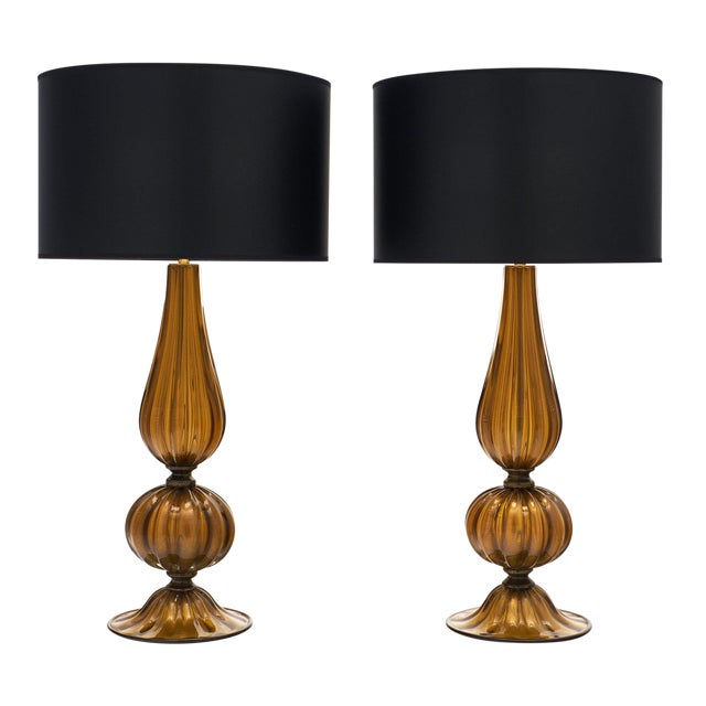 Murano Glass Pagoda Lamps For Sale
