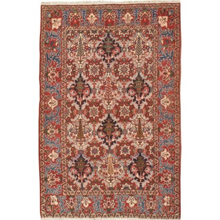 "Pasargad NY Semi-Antique Persian Bakhtiari Hand Knotted Rug - 4'6"" x 7' For Sale"
