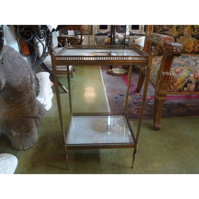 French 1940's French Maison Bagues Attributed Bronze Table For Sale - Image 3 of 13