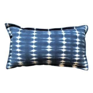 Indigo Shibori Tie Dyed Throw Pillow