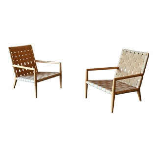 1950s Vintage T.H. Robsjohn-Gibbings Lounge Chairs for Widdicomb Model 1720 - A Pair For Sale