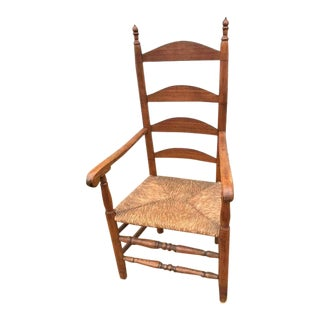 Late 18th Century Ladderback Armchair For Sale