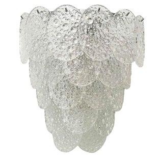 Mazzega Bubble Murano Glass Sconces (6 Available) For Sale