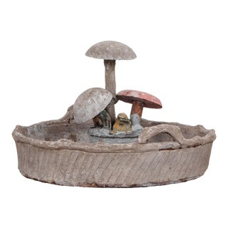 1970s French Concrete Mushroom Planter For Sale