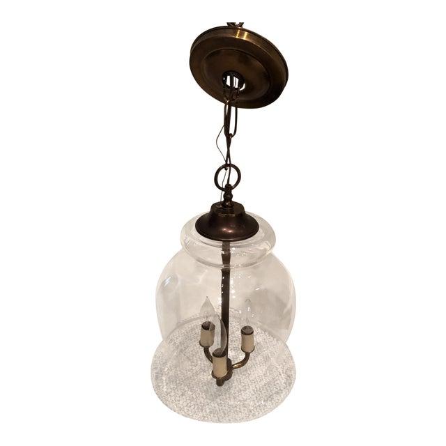 Handblown Vintage Bell Jar Pendant Light For Sale