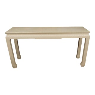 White Lacquered Console Table