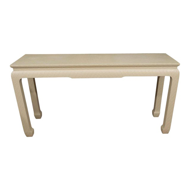 White Lacquered Console Table - Image 1 of 10