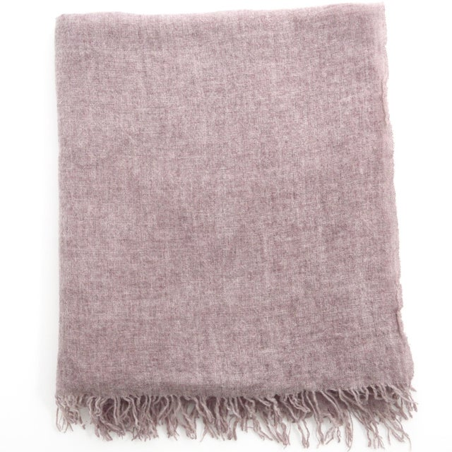 Mauve FirmaMenta Italian Mauve Pink Gauze Throw For Sale - Image 8 of 8
