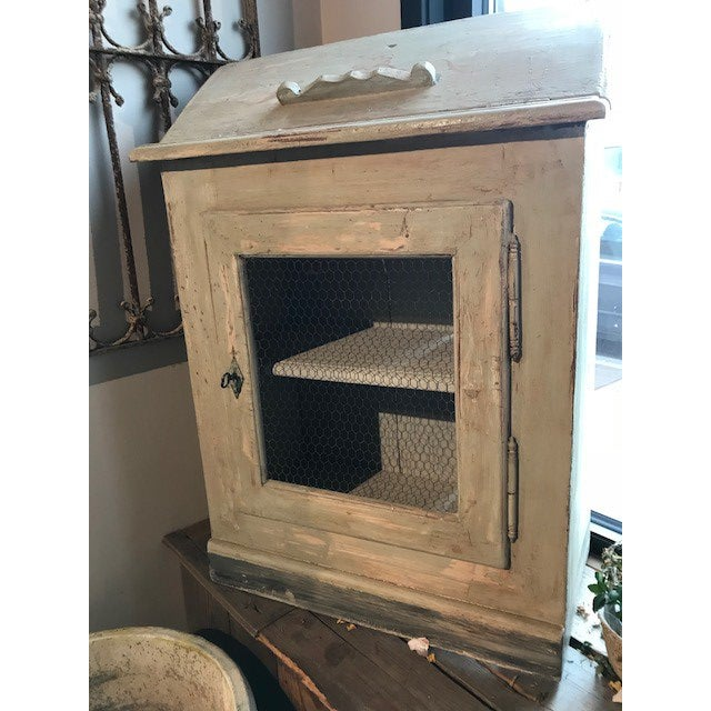 Antique Wire Front French Cupboard For Sale - Image 5 of 5