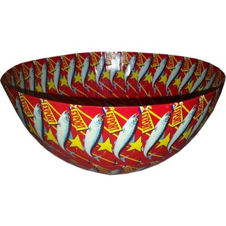 Round Bowl Red Lucky Star For Sale