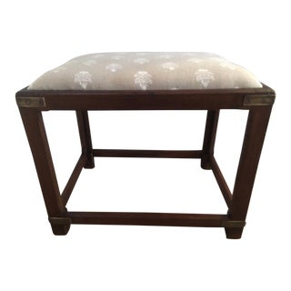 Upholstered Taupe Upholstered Rustic Seat
