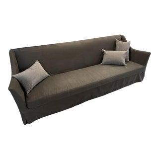 Oliver Gustav-Style Custom Linen Sofa For Sale