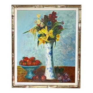 1960s Still Life Oil Painting, Framed For Sale