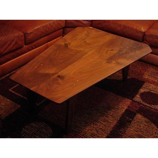 Mid Century Modern Walnut Slab Coffee Table - Image 7 of 7