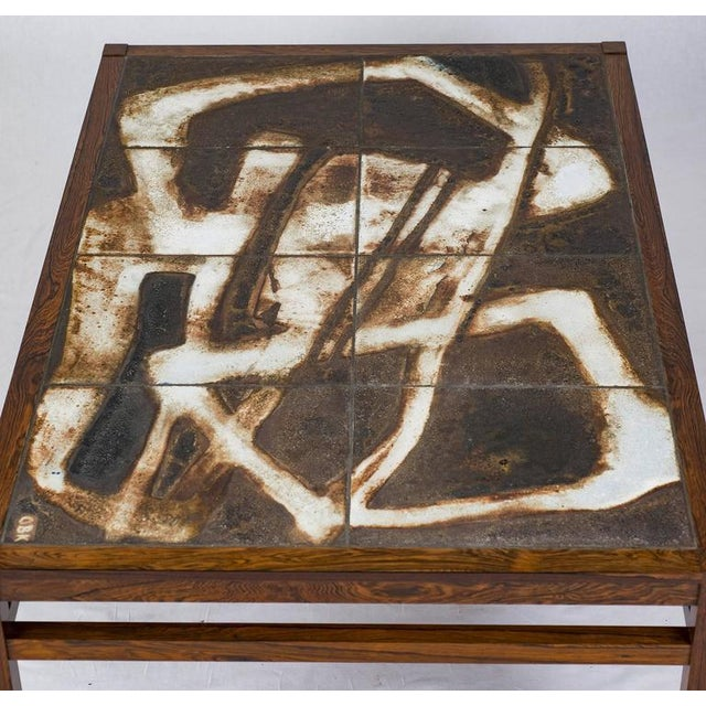 1960s Danish Abstract Tile Coffee Table For Sale - Image 5 of 10