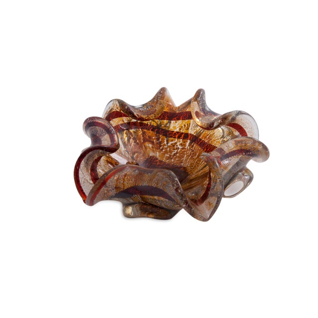 Tortoise Shell Murano Glass Dish For Sale In Boston - Image 6 of 6