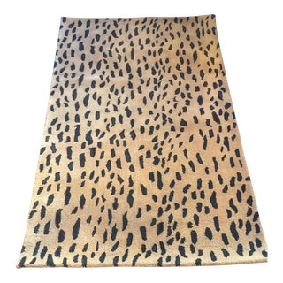 "Cheetah Wool Rug - 3'6"" X 5'5"" For Sale"