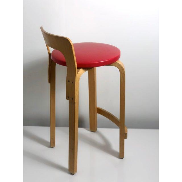 Mid-Century Modern Alvar Aalto by Artek K65 Highback Chair Finland 1940's For Sale - Image 3 of 11