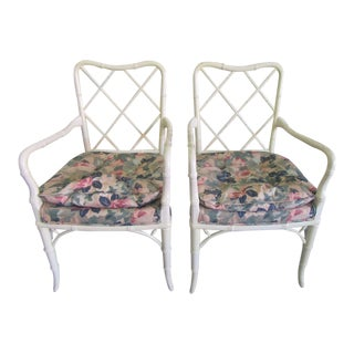 Sweetheart Chippendale Arm Chairs - a Pair For Sale