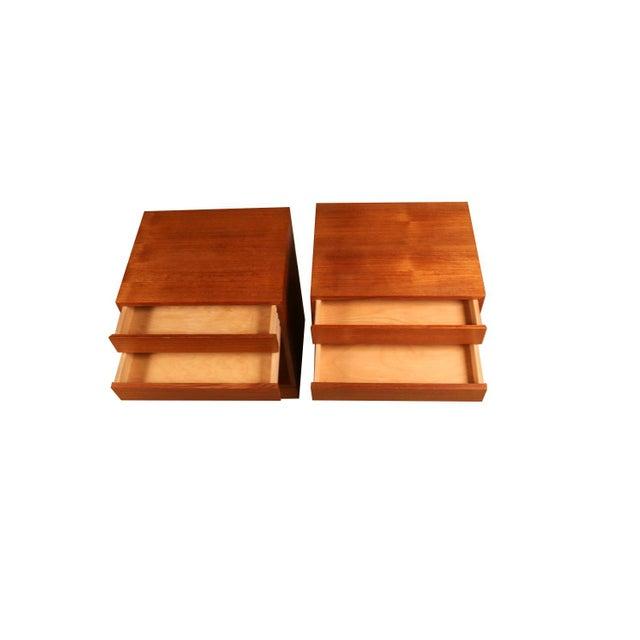 Arne Wahl Iversen Teak Danish Modern Nightstands End Side Tables Pair For Sale - Image 10 of 12