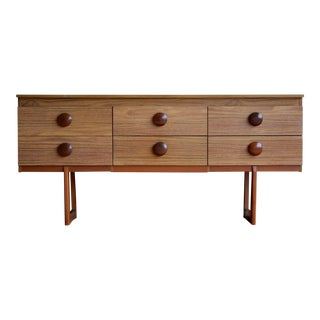 Danish Modern Credenza With Oversized Teak Pulls For Sale