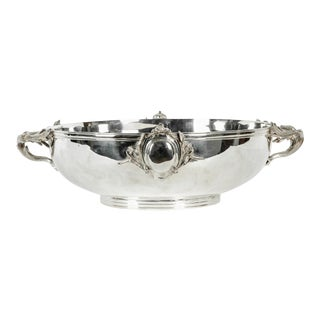 English Sheffield Silver Plated Wine Cooler / Sides Handle For Sale