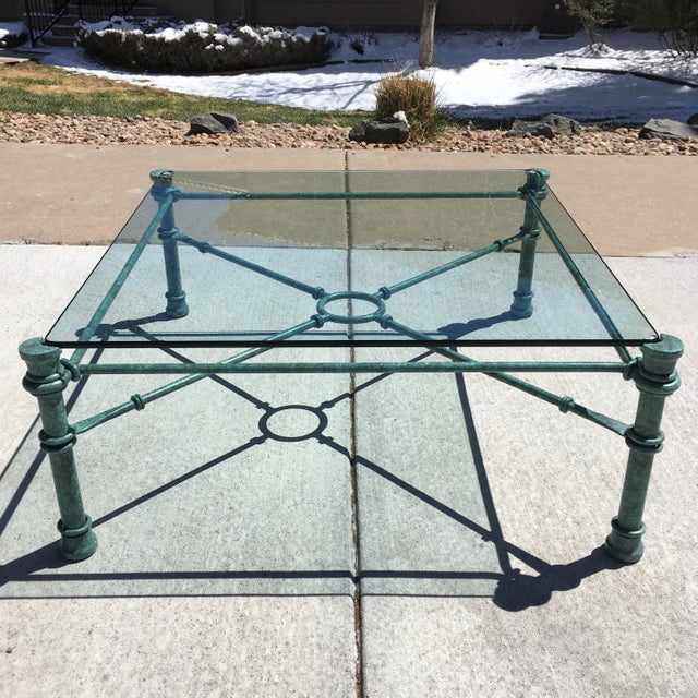Mid 20th Century Mid-Century Modern Wrought Iron Coffee Table After Giacometti For Sale - Image 5 of 12