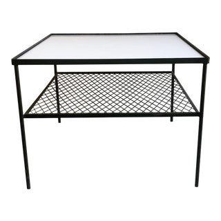 Mid-Century Italian Style Iron End Table For Sale