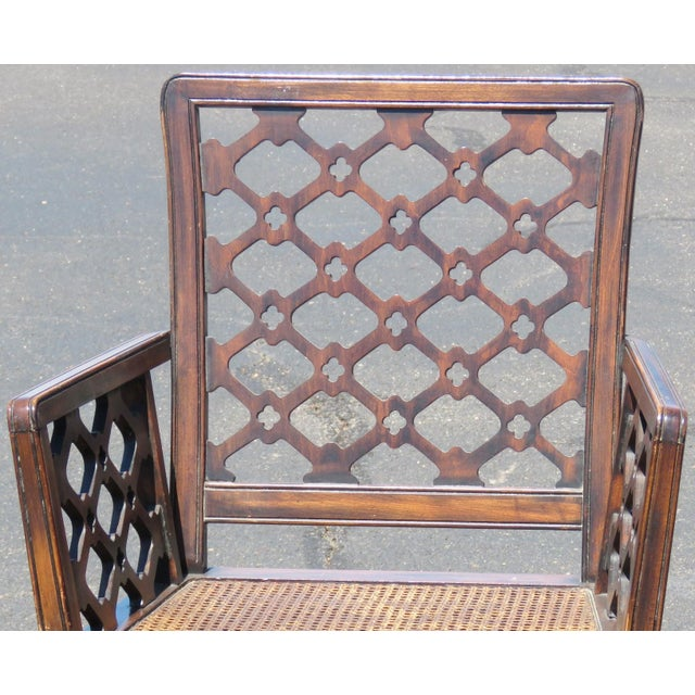 Chippendale Style Caned Chairs - A Pair - Image 5 of 5