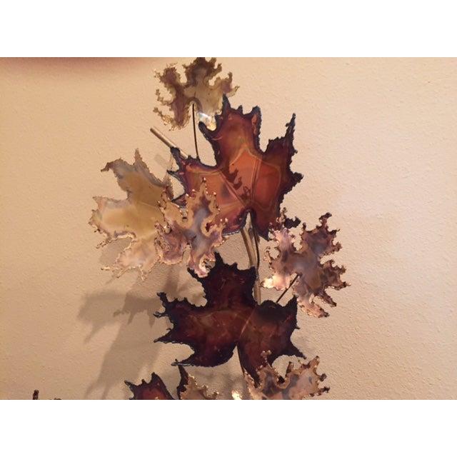 Curtis Jere Bronze Leaf Sculpture - Image 5 of 5