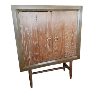 Custom Rustic Wood Bar Cabinet For Sale