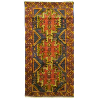"Traditional Wool Baluchi Afghanistan Rug - 3'3"" x 6'3"""