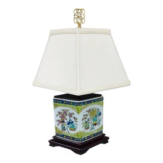 Vintage Chinoiserie Style High End Table Lamp by Excelsior For Sale