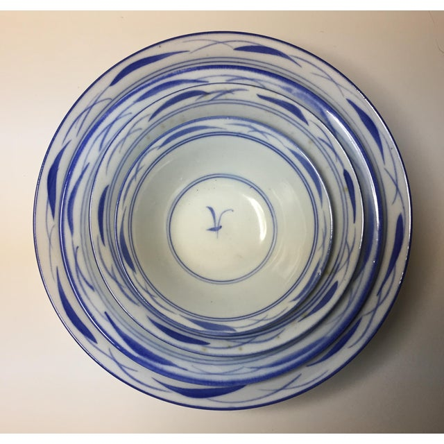 Early 20th Century Chinese Blue & White Stacking Bowls - Set of 4 For Sale - Image 5 of 5